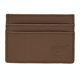 Animal Vital Leather Card Wallet - Tan