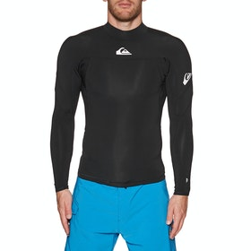 Quiksilver 1mm Syncro Long Sleeve Wetsuit Jacket - Black White