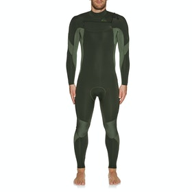 Quiksilver 4/3mm Syncro Chest Zip Wetsuit - Dark Ivy Shade Olive