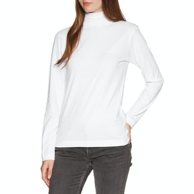 Carhartt Mock Script Womens Long Sleeve T-Shirt - White