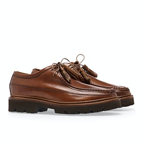 Grenson Bennett Dress Shoes - Tan Hand Painted