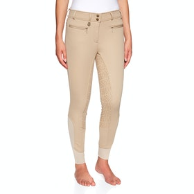 Derby House Elite High Waist Gel Full Seat Winter Ladies Riding Breeches - Beige