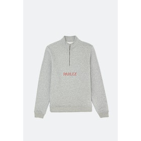 Maglione Parlez Shadow 1/4 Zip - Heather