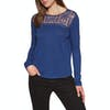 Superdry Embroidered Mesh Womens Long Sleeve T-Shirt - Navy