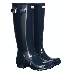 Hunter Original Tall Gloss Ladies Wellies - Navy