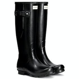 Stivali di Gomma Donna Hunter Norris Field Side Adjustable - Black