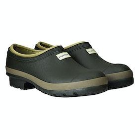 Stivali di Gomma Donna Hunter Gardener Clog - Dark Olive Clay