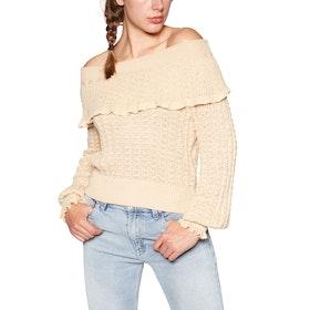 Free People Crazy In Love Ruffle Women's Sweater - Lemon