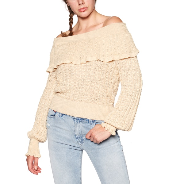 Free People Crazy In Love Ruffle Women's Sweater