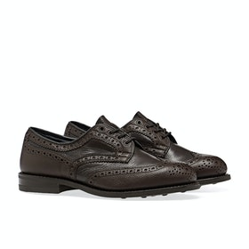 Trickers Bowood Olivvia Scotch/deer Dress Shoes - Dark Brown