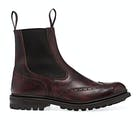 Trickers Made In England Henry Chelsea Brogue Detail Men's Boots