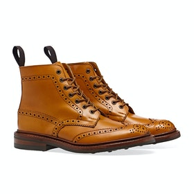 Trickers Stow With Dainite Sole Stiefel - Acorn Antique