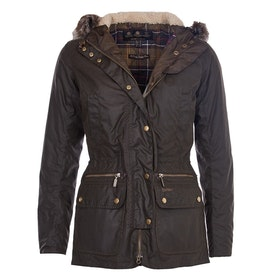 Barbour Kelsall Parka Ladies Wax Jacket - Olive