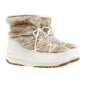 Moon Boot Monaco Low Fur Boots - White