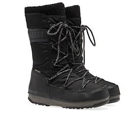 Botas Moon Boot Monaco Wool Wp - Black