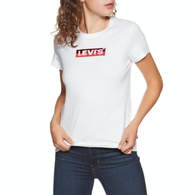 T-Shirt a Manica Corta Donna Levi's The Perfect - Box Tab White