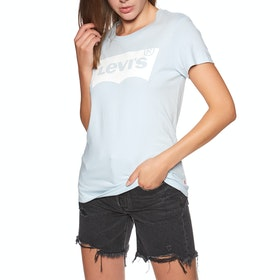 T-Shirt a Manica Corta Donna Levi's The Perfect - Bw T2 Baby Blue