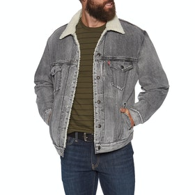 Levi's Virgil Sherpa Trucker Jacket - Grey
