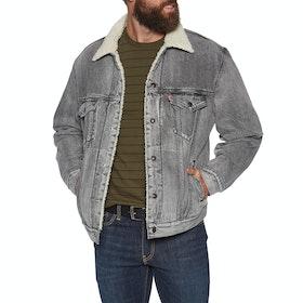 Levi's Virgil Sherpa Trucker Jacke - Grey