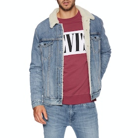 Levi's Type 3 Sherpa Trucker Men's Jacket - Firewood Sherpa Trucker