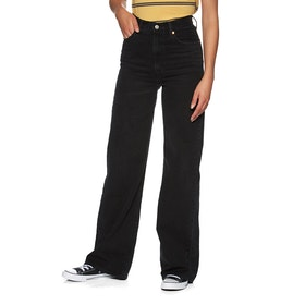 Levi's Ribcage Wide Leg Women's Jeans - Black Book - Rc