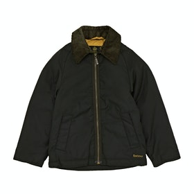 Barbour Winter Munro Boys Wax Jacket - Sage