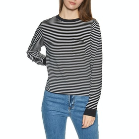 Roxy Back To You Womens Long Sleeve T-Shirt - Anthracite Re Marina Stripes