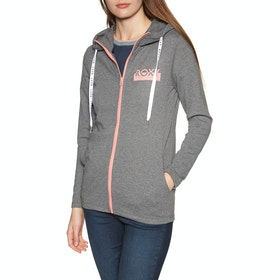 Sweat à Capuche avec Fermeture Éclair Femme Roxy Soul Searcher - Charcoal Heather