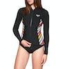 Roxy 1m Pop Full Zip Womens Wetsuit Jacket - Black
