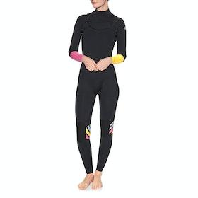 Roxy 3/2mm Pop Surf Chest Zip Womens Wetsuit - Black