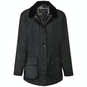 Barbour Beadnell Ladies Wax Jacket - Black