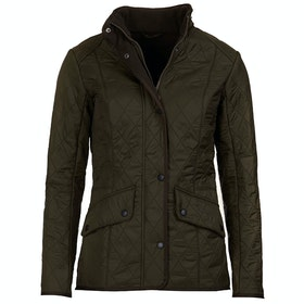 Barbour Cavalry Polar Quil Quilted Jacket - Dark Olive Olive