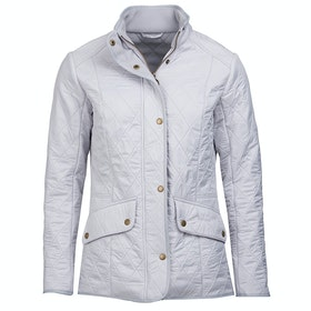 Barbour Cavalry Polar Quilt Ladies Jacket - Ice White Silver