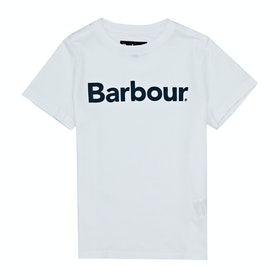 Barbour Logo Boys Short Sleeve T-Shirt - White