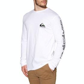 Quiksilver Omni Logo Classic Long Sleeve T-Shirt - White