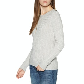 Superdry Croyde Cable Womens Sweater - Ice Grey Marl