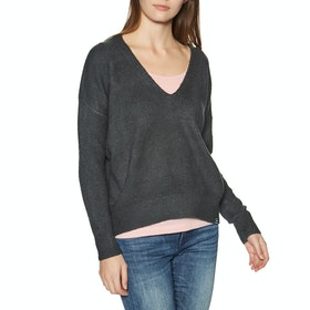 Knits Mujer Superdry Isabella Slouch Vee Knit - Charcoal Marl