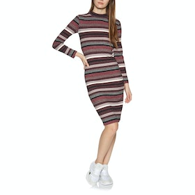 Robe Superdry Stripe Rib Midi - Red Stripe