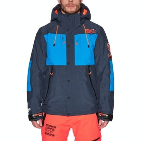 Superdry SD Mountain Snow Jacket - Vortex Navy Marl Acid Cobalt