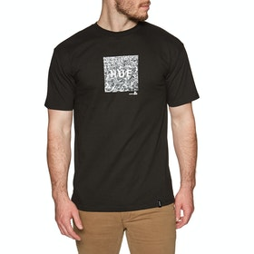 T-Shirt à Manche Courte Huf Woodstock Box Logo - Black