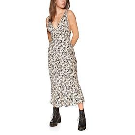 Free People Ohh La La Bias Midi Dress - Black