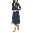 Hope & Ivy Fern Embellished Bodice Mid Skater Dress