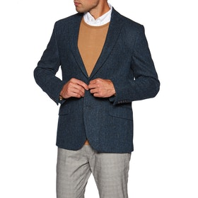 Country Attire 100% Harris Tweed Jacket - Blue Herringbone