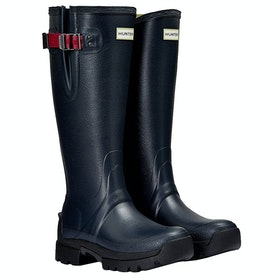 Hunter Balmoral Side Adj 3mm Neoprene Ladies Wellies - Navy Peppercorn