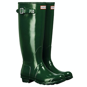Hunter Original Tall Gloss Damen Gummistiefel - Hunter Green