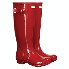 Hunter Original Tall Gloss ウェリントンブーツ - Military Red