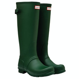 Hunter Original Back Adjustable Damen Gummistiefel - Hunter Green