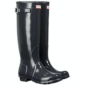 Hunter Original Tall Gloss Ladies Wellies - Dark Slate