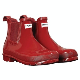 Hunter Original Chelsea Gloss Ladies Wellies - Military Red