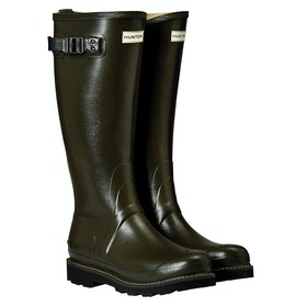 Hunter Balmoral II Poly Lined Ladies Wellingtons - Dark Olive